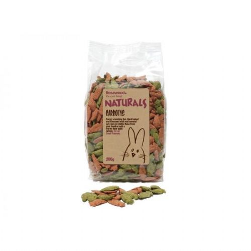 Rosewood - Naturals - Carrotys - Small Animal Treats - 200g